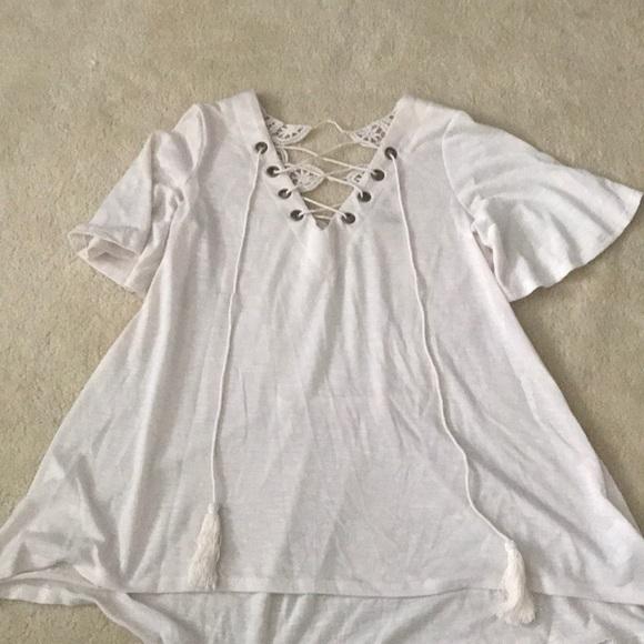 Xhilaration Tops - White detailed blouse